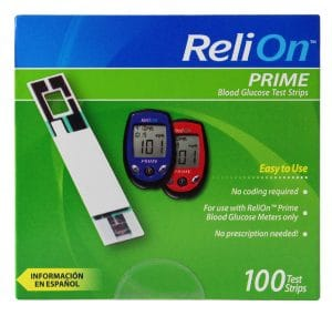ReliOn Prime 100 Test Strips