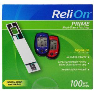 ReliOn Prime 100 Test Strips