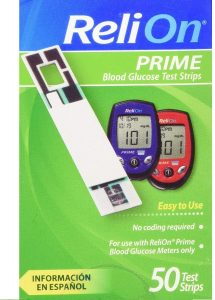 ReliOn Prime 50 test strips